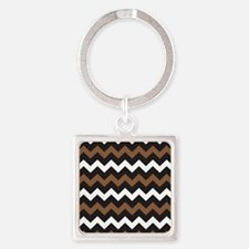 Black Brown And White Keychains