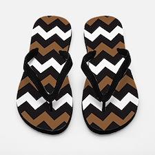 Black Brown And White Flip Flops