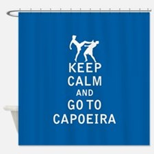 Keep Calm and Go To Capoeira Shower Curtain
