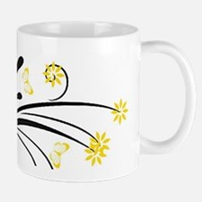 yellow flowers and butterflies Mugs