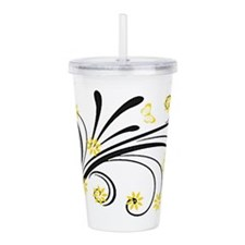 Cool Flowers Acrylic Double-wall Tumbler