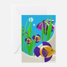 Colorful Tropical Fish Greeting Cards