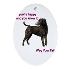 Curly-Coated Retriever if your hap Ornament (Oval)