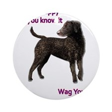 Curly-Coated Retriever if your ha Ornament (Round)
