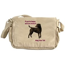 Curly-Coated Retriever if your happy Messenger Bag