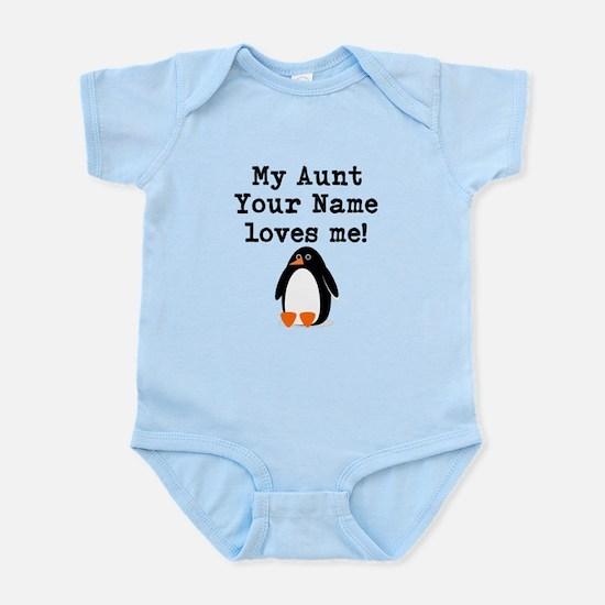 My Aunt Loves Me Penguin (Custom) Body Suit