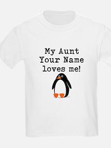 My Aunt Loves Me Penguin (Custom) T-Shirt