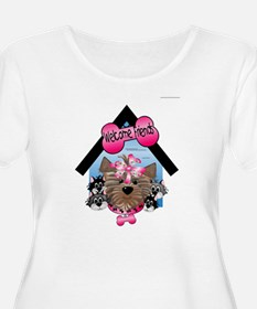 Yorkie Welcome Friends Plus Size T-Shirt