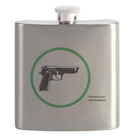 Yes Guns Sticker Flask