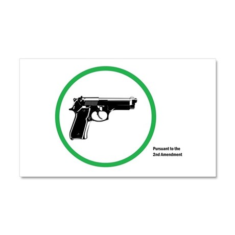 Yes Guns Sticker Car Magnet 20 x 12