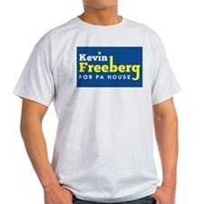 Kevin Freeberg White/Yellow on Blue T-Shirt