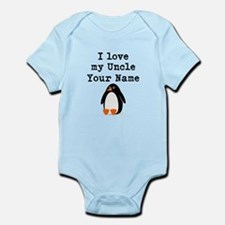 I Love My Uncle Penguin (Custom) Body Suit