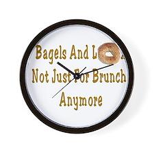 Bagels and Lox Brunch Wall Clock