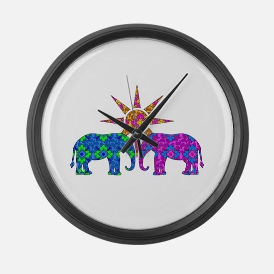 Funny Elephant Large Wall Clock