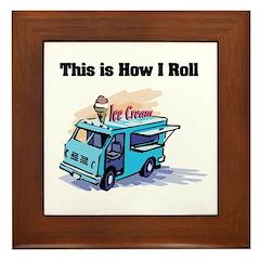 How I Roll (Ice Cream Truck) Framed Tile