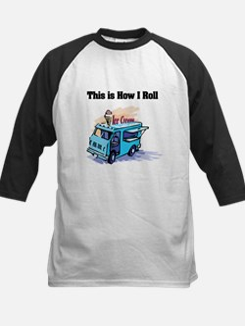 How I Roll (Ice Cream Truck) Kids Baseball Jersey