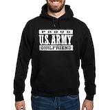 Army girlfriend Dark Hoodies