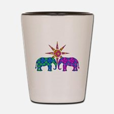 Cute Elephants Shot Glass