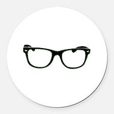 Glasses Round Car Magnet