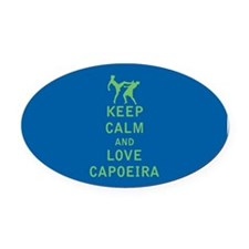 Keep Calm and Love Capoeira Oval Car Magnet