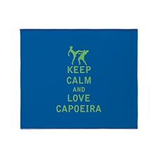 Keep Calm and Love Capoeira Throw Blanket