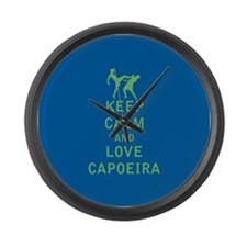 Keep Calm and Love Capoeira Large Wall Clock