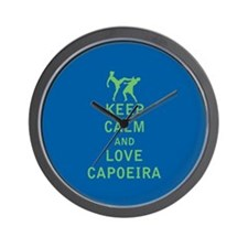 Keep Calm and Love Capoeira Wall Clock
