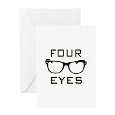 Four Eyes Greeting Cards