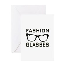 Fashion Glasses Greeting Cards