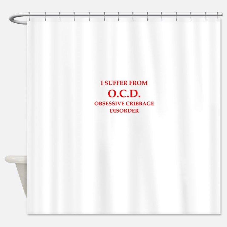 cribbage Shower Curtain