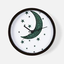 Funny Moon and sun Wall Clock