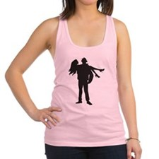 Funny Firefighter wife Racerback Tank Top
