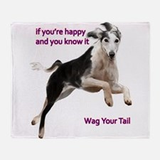 Saluki Throw Blanket