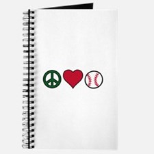 Peace Heart Baseball Journal