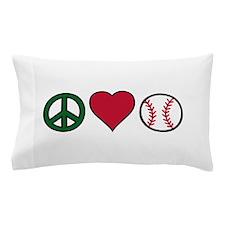 Peace Heart Baseball Pillow Case