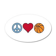 Peace Heart Basketball Wall Decal