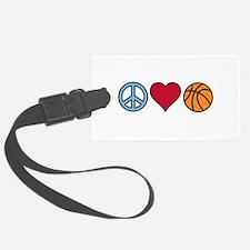 Peace Heart Basketball Luggage Tag