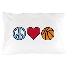 Peace Heart Basketball Pillow Case