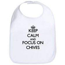 Cute Keep calm chive Bib