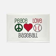 Peace Love Baseball Magnets