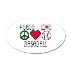 Peace Love Baseball Wall Decal