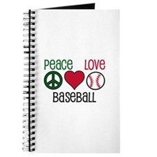 Peace Love Baseball Journal