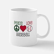 Peace Love Baseball Mugs