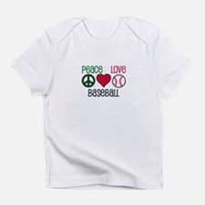 Peace Love Baseball Infant T-Shirt