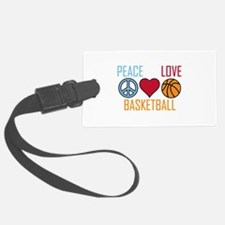 Peace Love Basketball Luggage Tag