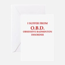 badminton Greeting Cards
