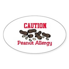 Caution Peanut Allergy Decal