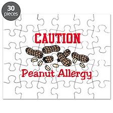 Caution Peanut Allergy Puzzle
