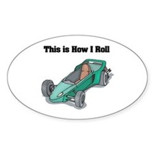How I Roll (Go Kart/Cart) Oval Decal