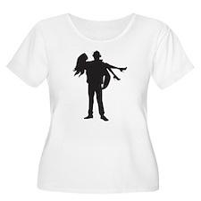 Fireman's Wife - BLACK Plus Size T-Shirt